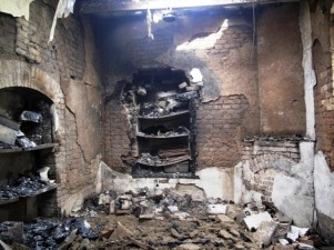 Burnt rooms inside a prison are seen following a Taliban attack in Dera Ismail Khan July 30, 2013. PHOTO: REUTERS