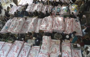 Coffins of the victims of Hazara Town Blast